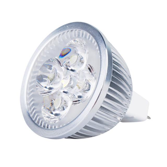 3000lm GU5.3(MR16) LED 스팟 조명 MR16 4 LED 비즈 고성능 LED 따뜻한 화이트 12V