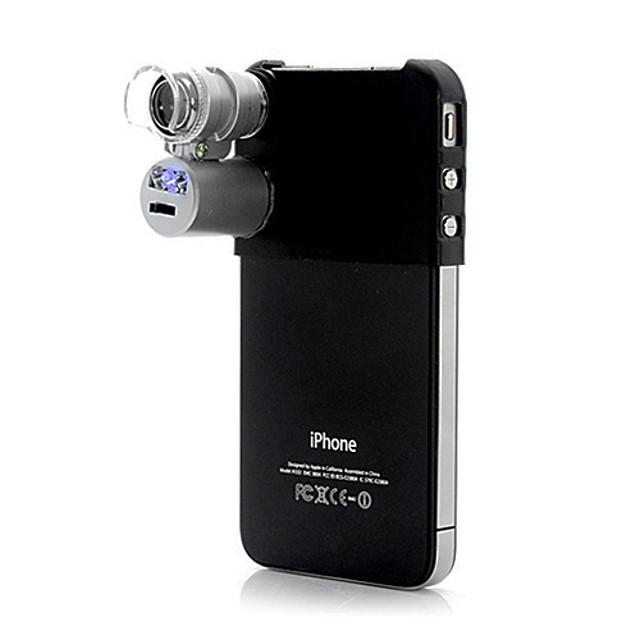Microscopio 60X per iPhone 5 e iPhone 4/4S (con LED e Luce UV)