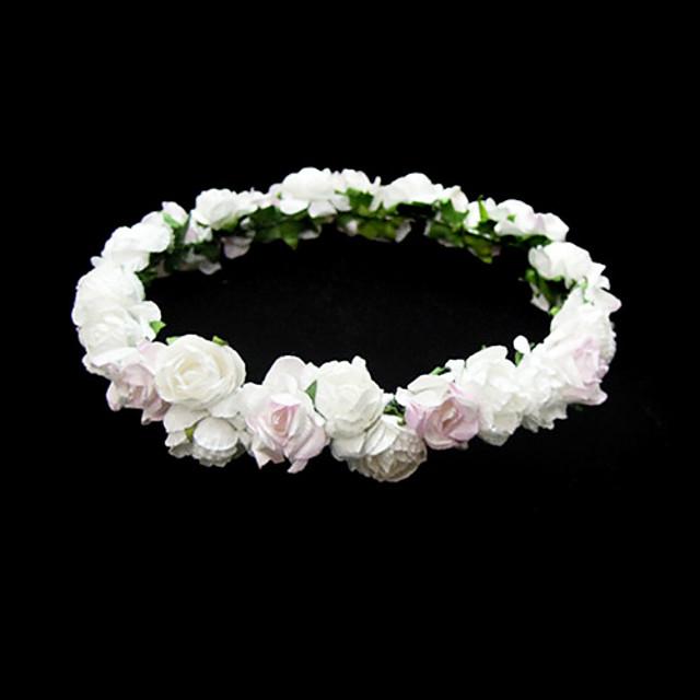 belle fleur de mariage de papier fillette couronne de fleurs