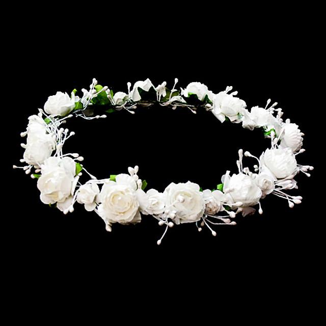 coiffes mariage fille fleur couronne avec de belles fleurs