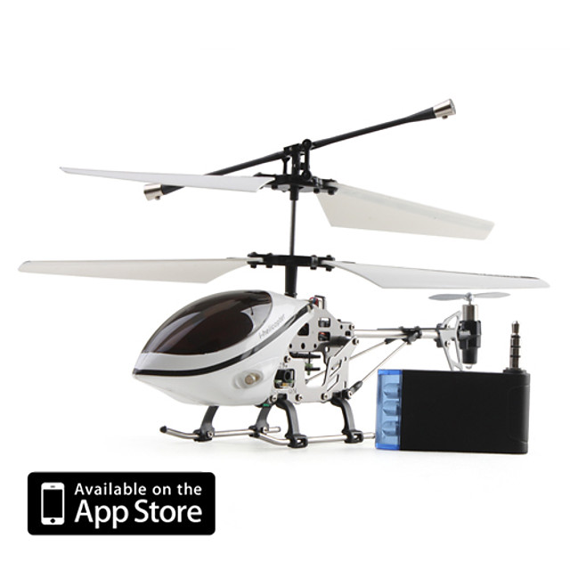 3 canale i-elicopter cu Gyro 777-170 controlat de iPhone / iPad / iPod iTouch (alb)