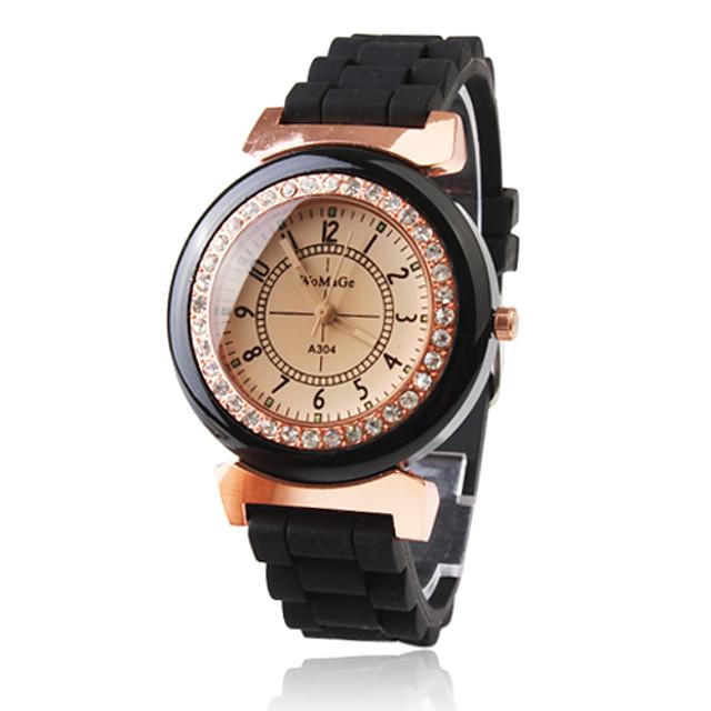 Damen Uhr Armbanduhr Japanisch Quartz Plastic Schwarz Armbanduhren für den Alltag Analog damas Glanz Modisch Kleideruhr
