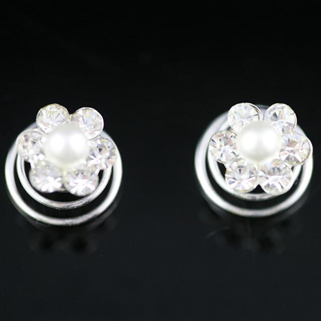 Cristal / Imitație de Perle / Material Textil Diademe / Pini de păr cu 1 Nuntă / Ocazie specială / Party / Seara Diadema / Aliaj