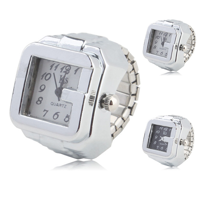Women's Ring Watch Square Watch Quartz Ladies Casual Watch Analog White Black / One Year / One Year / SSUO SR626SW