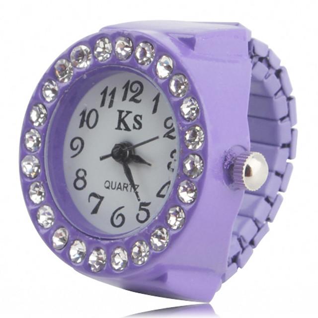 Damen Ringuhr Armbanduhr Diamond Watch Quartz damas Imitation Diamant Weiß Schwarz Purpur / Ein Jahr / Japanisch / Japanisch / Ein Jahr / SSUO SR626SW