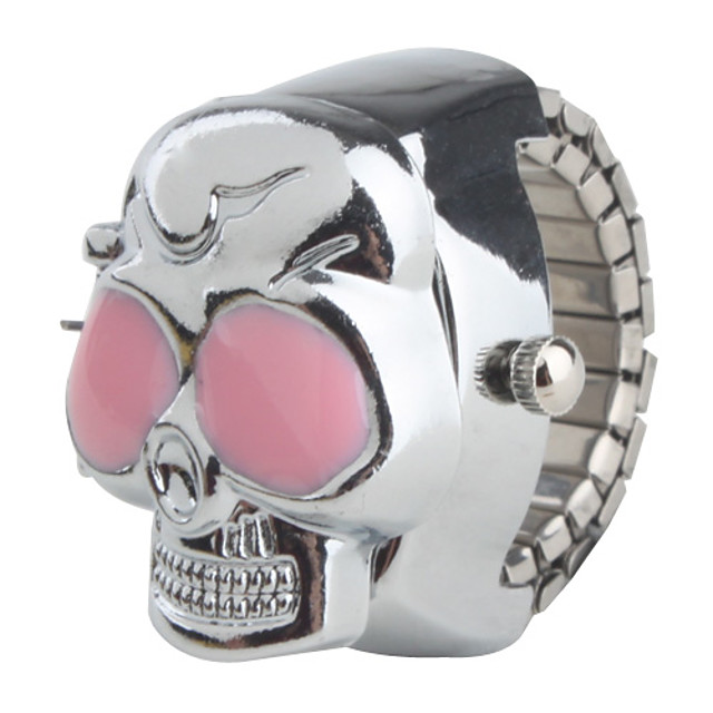 สำหรับผู้หญิง สุภาพสตรี นาฬิกาแหวน นาฬิกาอิเล็กทรอนิกส์ (Quartz) หัวกระโหลก นาฬิกาใส่ลำลอง / ญี่ปุ่น / ญี่ปุ่น