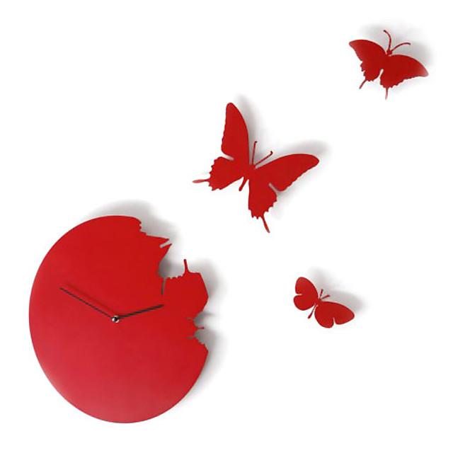zboară fluture de design de perete ceas analogic (de culoare aleatorii)