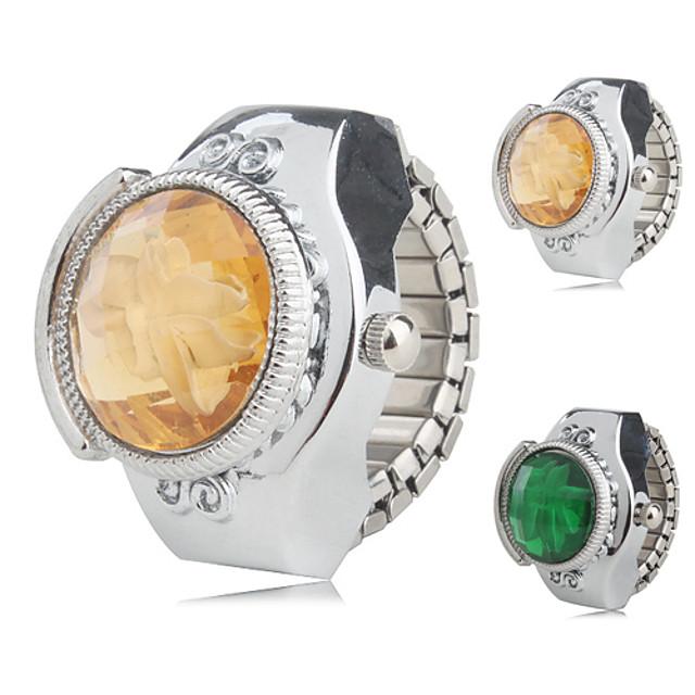 Pentru femei Ceas inel Japoneză Quartz Argint Ceas Casual femei Floare - Galben Verde Un an Durată de Viaţă Baterie / SSUO SR626SW