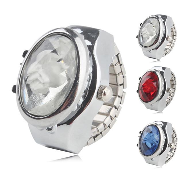 สำหรับผู้หญิง นาฬิกาแหวน นาฬิกาอิเล็กทรอนิกส์ (Quartz) สุภาพสตรี นาฬิกาใส่ลำลอง ระบบอนาล็อก ขาว แดง ฟ้า / หนึ่งปี / หนึ่งปี / SSUO SR626SW