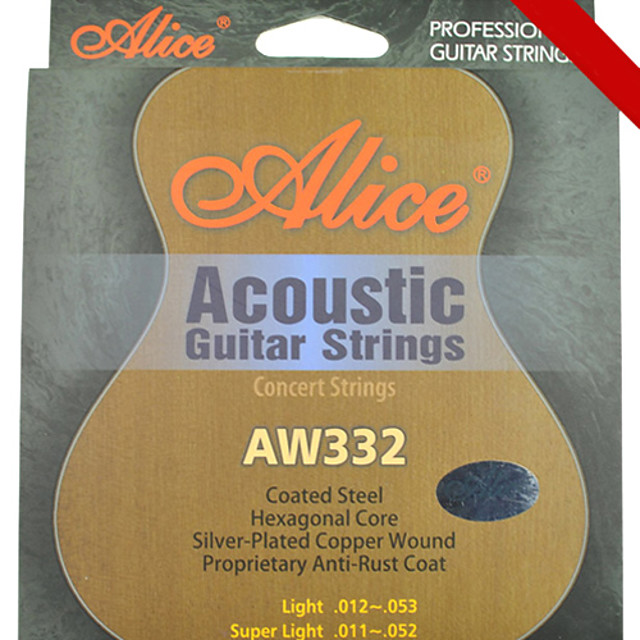 Alice - (AW332-L) Steel Acoustic Guitar Strings (012-053)