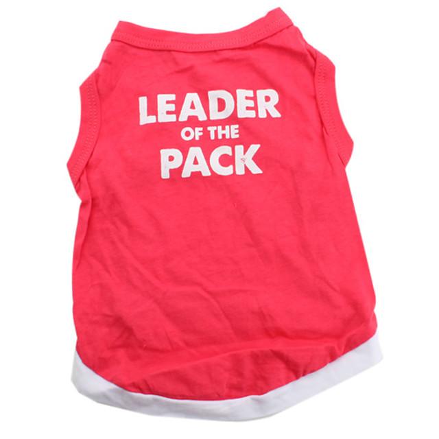 Câine Tricou Îmbrăcăminte Câini Respirabil Rosu Costume Bumbac Inimă Animal XS S M L