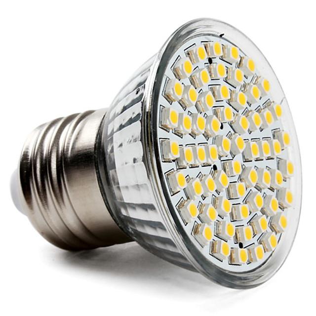 1 buc 3.5 W Spoturi LED 300-350 lm E26 / E27 60 LED-uri de margele SMD 2835 Alb Cald Alb Rece Alb Natural 220-240 V