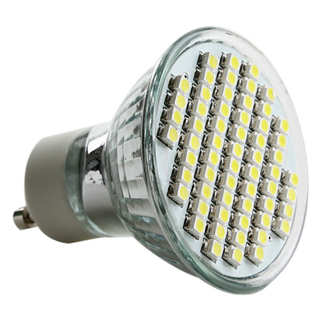 1 buc 3 W Spoturi LED 300lm GU10 60 LED-uri de margele SMD 2835 Alb Cald Alb Rece Alb Natural 220-240 V