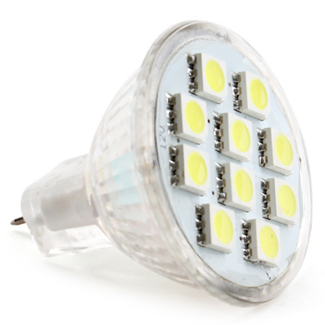 1pc 1 W LED-spotlampen 50-80 lm MR11 MR11 10 LED-kralen SMD 5050 Warm wit Koel wit Natuurlijk wit 12 V