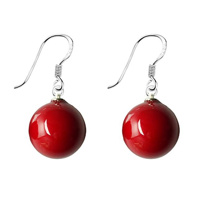 Pentru femei Perle Cercei Picătură Minge femei Simplu De Bază Dulce Perle Imitație de Perle cercei Bijuterii Rosu / Albastru Pentru Purtare Zilnică Dată 1 buc