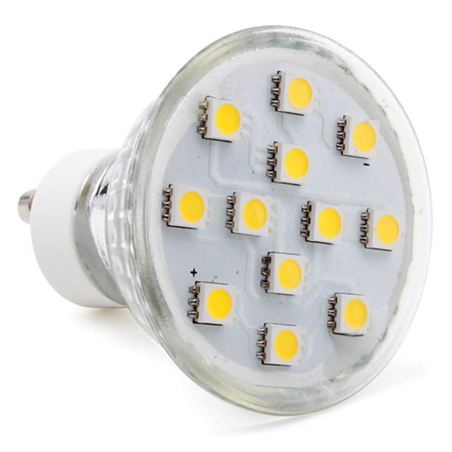 1 buc 2 W Spoturi LED 80-100 lm GU10 12 LED-uri de margele SMD 5050 Alb Cald Alb Rece Alb Natural 220-240 V