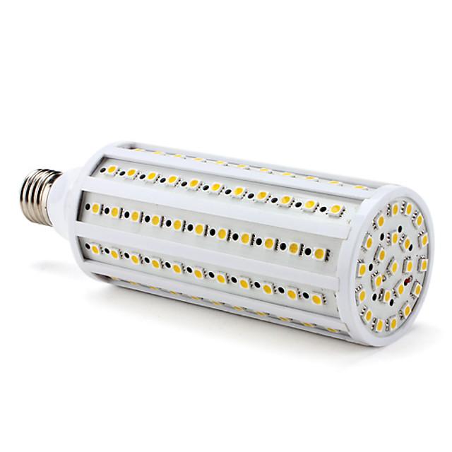 1 buc 3 W Becuri LED Corn 3000 lm E26 / E27 T 132 LED-uri de margele SMD 5050 Alb Cald 220-240 V