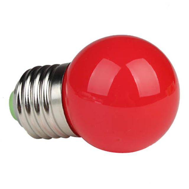 1 buc 1 W Bulb LED Glob 80-100 lm E26 / E27 G45 3 LED-uri de margele LED Putere Mare Roșu 220-240 V