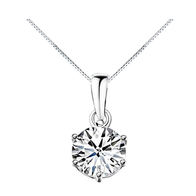Pentru femei Diamant Zirconiu Cubic Coliere cu Pandativ Solitaire simulat Modă Zirconiu Zirconiu Cubic Aliaj Argintiu Coliere Bijuterii Pentru Zilnic