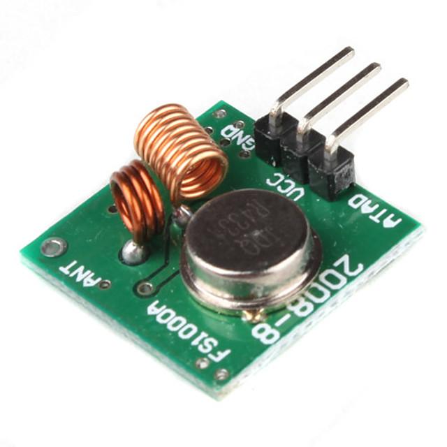 433mhz zendmodule superregeneration voor (voor Arduino) (groen)