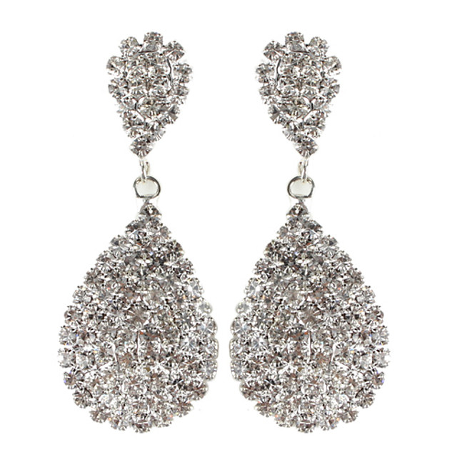 Pentru femei Cercei Picătură Floral Nuntă Ștras Diamante Artificiale cercei Bijuterii Pentru Zilnic