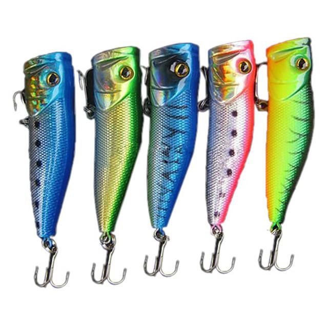 1 pcs Δόλωμα Momeală Dură Poper Bass Păstrăv Ştiucă Pescuit mare Pescuit de Apă Dulce Plastic Dur