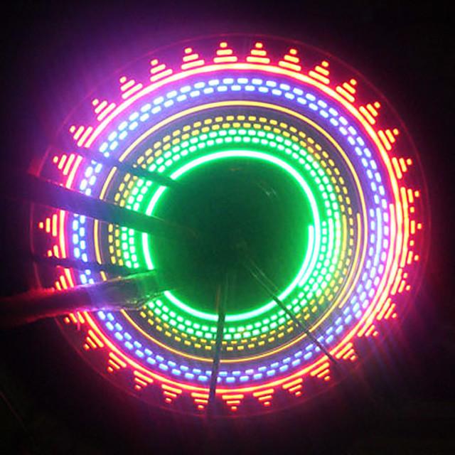 LED Eclairage de Velo Capots de feux clignotants Éclairage pour roues de vélo Vélo Rayons Lumières VTT Vélo tout terrain Vélo Cyclisme Imperméable Sécurité Portable Facile à Installer AAA Cyclisme