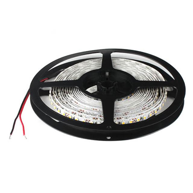 5m Fâșii De Becuri LEd Flexibile 600 LED-uri 3528 SMD Galben 12 V