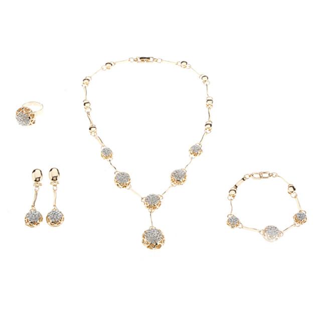Pentru femei Cristal Plutire Modă Cristal Ștras cercei Bijuterii Auriu Pentru Nuntă / Inele / Cercei / Coliere / Brățară