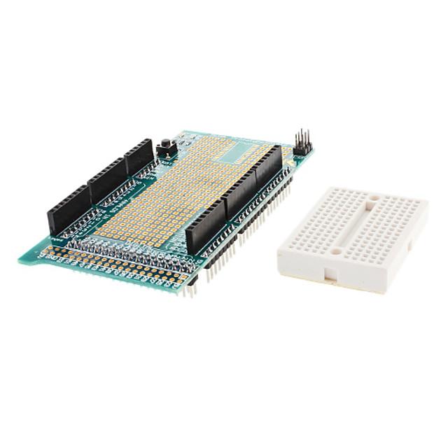 (For Arduino) Mega Prototype Shield Protoshield V3 With Mini Bread Board