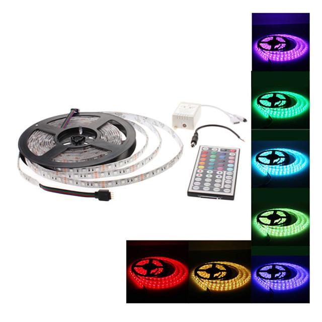 5 m Tiras LED Flexibles Sets de Luces Tiras de Luces RGB 300 LED 5050 SMD RGB Color variable 12 V