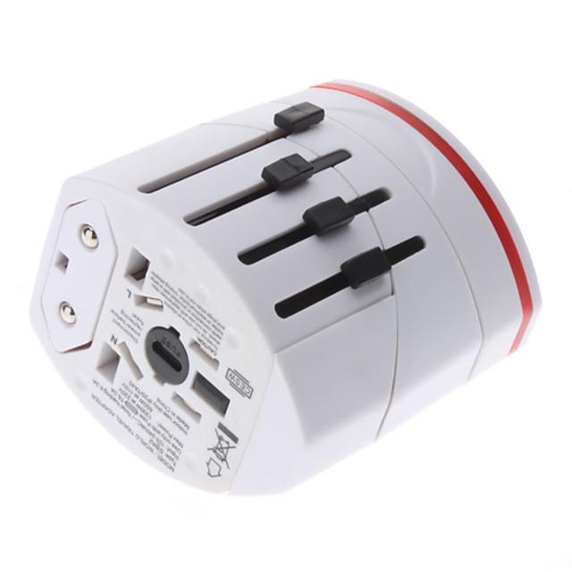 adaptor de călătorie internațional cu încărcător de 2 usb de înaltă calitate, durabil pentru noi, eu, uk, au 160 de țări