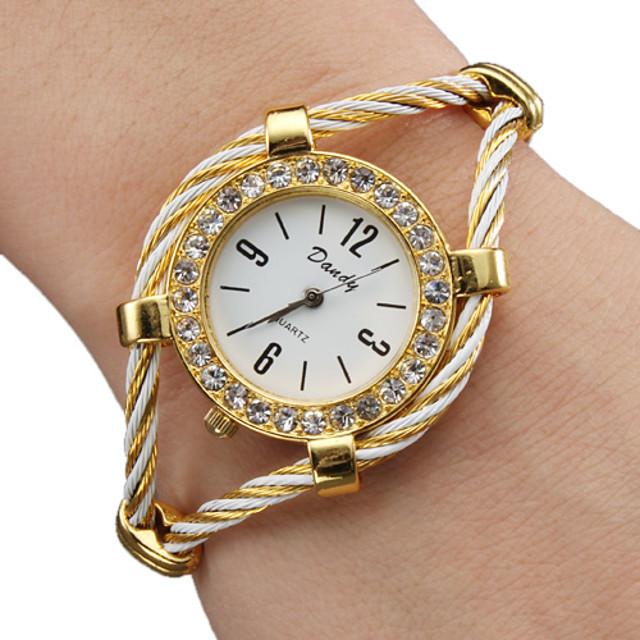Dam damer Modeklocka Armbandsklocka Diamond Watch Quartz Glittriga Ramtyp Guld / Ett år / Ett år / SSUO 377