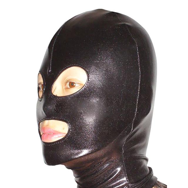 Mască Costum de piele Ninja Adulți Spandex Latex Costume Cosplay Sex Bărbați Pentru femei Mată Halloween