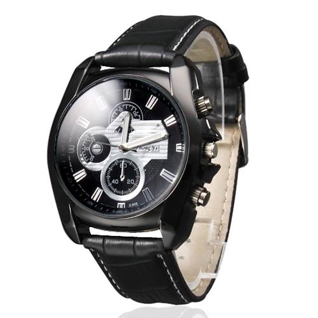 Bărbați Ceas de Mână Aviation Watch Quartz Piele PU Matlasată Negru Ceas Casual Analog Charm Clasic - Negru
