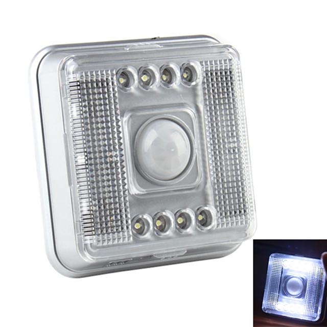 8-LED 2-Mode White Light Infrared Sensor Motion Activated LED Lamp (2xAA)