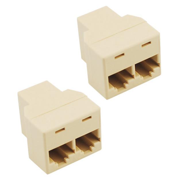 mufă rj45 conector splitter cat5 cat6 lan adaptor splitter ethernet (2-pack)