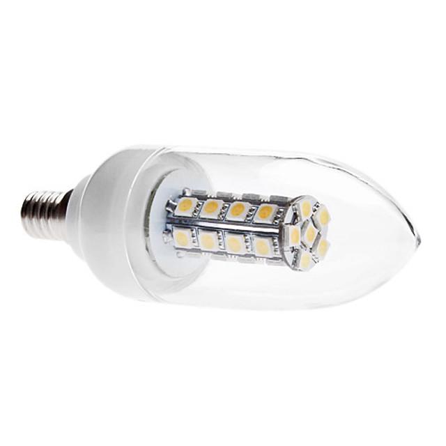 Becuri LED Lumânare 3000 lm E14 C35 30 LED-uri de margele SMD 5050 Decorativ Alb Cald 85-265 V
