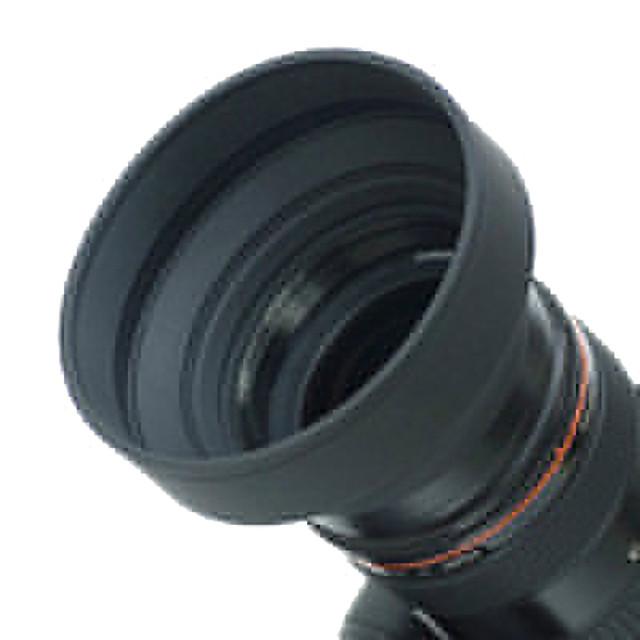 52mm Rubber Lens Hood for Wide angle, Standard, Telephoto Lens