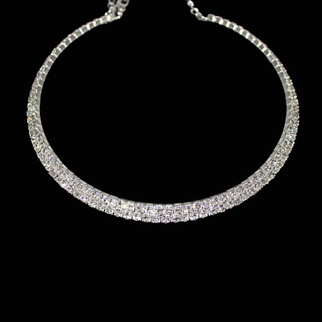 Pentru femei Cristal Coliere Choker Lantul de tenis femei Cristal Ștras Aliaj Coliere Bijuterii Pentru Petrecere