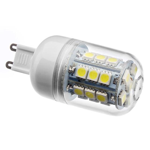 1 buc 3 W 210 lm G9 Becuri LED Corn T 27 LED-uri de margele SMD 5050 Alb Natural 220-240 V / 200-240 V / #