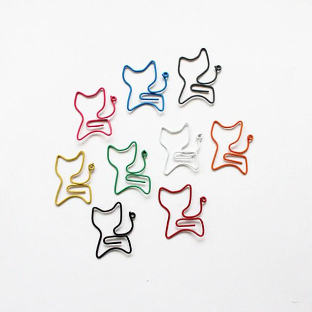 Stilul pisică agrafe colorate de (culoare aleatorii, 10-pack)