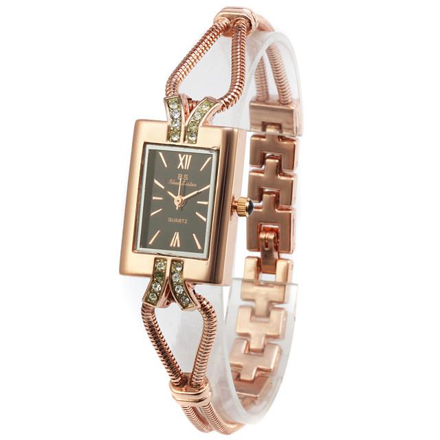 Pentru femei Pliere Suprapusă Ceas La Modă ceas de aur Piața de ceas Auriu Kachlička femei Ceas de Mână - Roz auriu