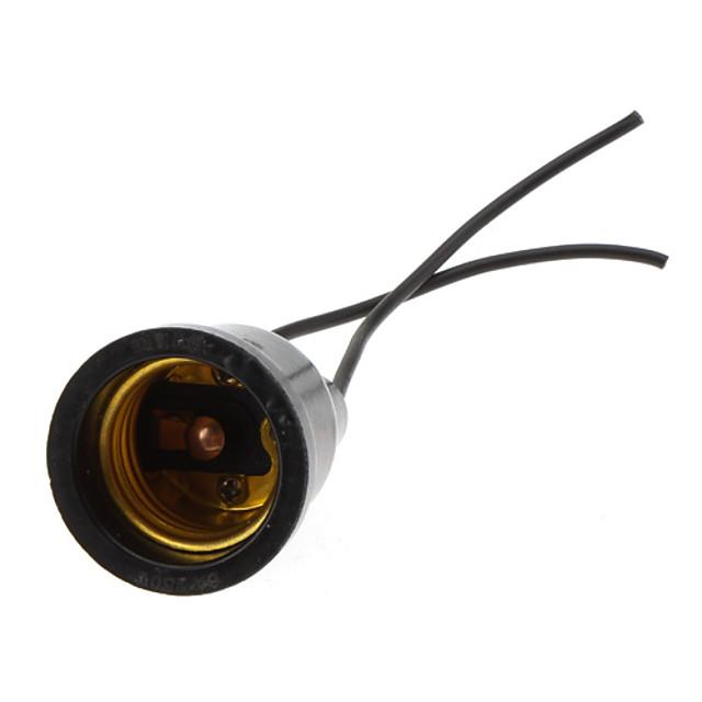 E27 100-240 V Rezistent la apă / 90 ° C rezistent la căldură Plastic / Sârmă de cupru Bec pentru becuri / Suport pentru lampă Interior / Exterior / pentru proiecte DIY