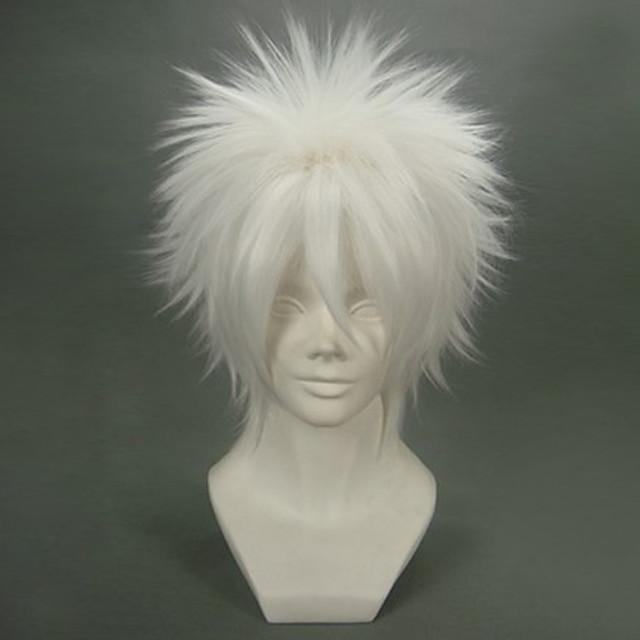 Katekyo Hitman Reborn! Byakuran Peruci de Cosplay Bărbați 12 inch Fibră Rezistentă la Căldură Peruca Animei / Perucă / Perucă
