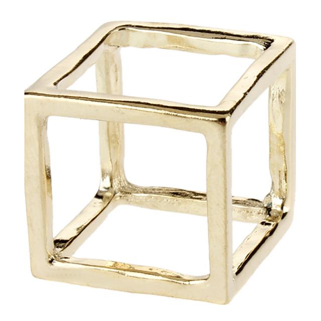 Inel de declarație Auriu Argintiu Aliaj Pătrat Geometric Shape Declarație Neobijnuit Design Unic Petrecere Zilnic Bijuterii Artizan