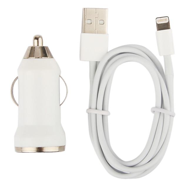 incarcator de masina mica cu 100cm mere cablu cu 8 pini pentru iPhone 6 iphone 6 plus iPhone 5, iPod (DC12-24V, 1a)