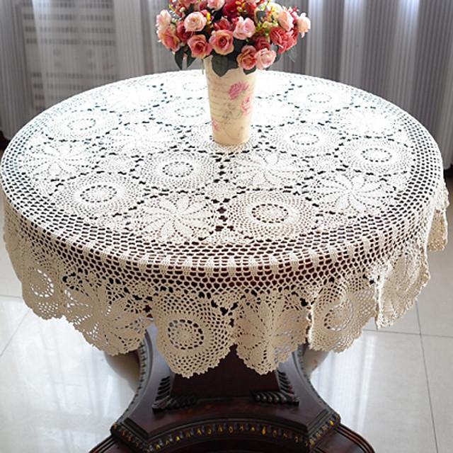100% bumbac Rotund Fețe de masă Floral Decoratiuni de tabla