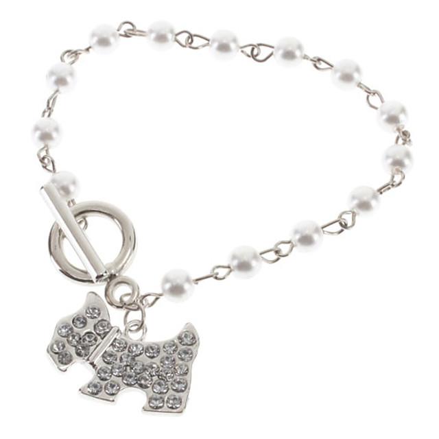 Pentru femei Brățări cu Talismane Caini Animal Perle Bijuterii brățară Argintiu Pentru Nuntă / Reșină