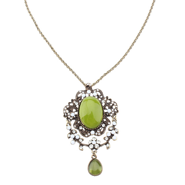 Elegent Verde Opal Necklace